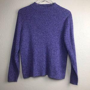 Karen Scott Purple amarles Knit Sweater